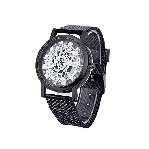 Herenhorloge analoog kwartshorloge 30 m waterdicht met stopwatch chronograaf roestvrij staal Milanese armband business casual horloges Romeinse wijzerplaat polshorloge
