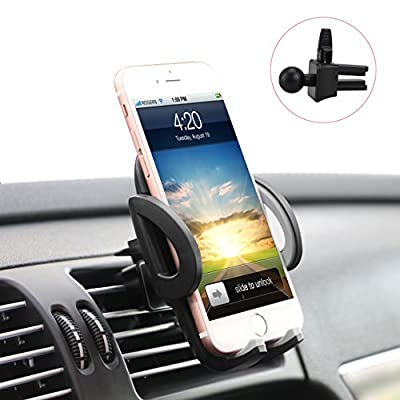 ilikable Air Vent Phone Holder - 360 Rotation Car Cell Phone Mount - Car Holder Compatible with Smartphone Android iPhone GPS Devices, Black by ilikable