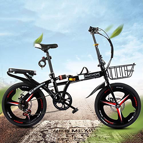 LYTLD Folding Fahrrad, Vorne Und Hinten Scheibenbremsen, Erwachsene Ultra Tragbarer City Bike Jugend Studenten Fahrrad