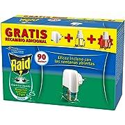 Raid - Difusor Eléctrico Anti Mosquitos com unes y Tigre Aroma com Aplicador y 2 Recâmbios, Blanco, Eucalipto