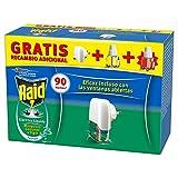 Raid - Difusor Eléctrico Anti Mosquitos Comunes y Tigre Aroma Eucalipto con Aplicador y 2 Recambios, Blanco