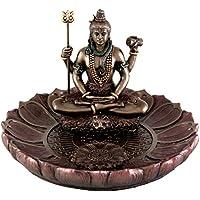 Hindú Dios Shiva En La Meditación plato redondo soporte para incienso (quemador de incienso