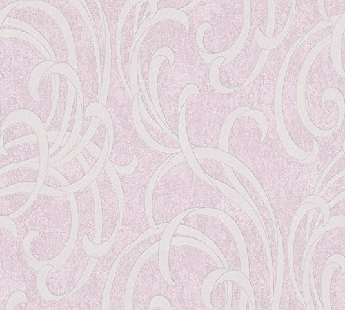 A.S. Création Vliestapete Soraya Tapete neo barock 10,05 m x 0,53 m metallic rosa Made in Germany 305851 30585-1