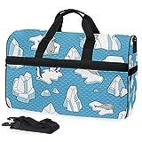 Oarencol Iceberg Seals - Bolsa de Viaje con Compartimento para Zapatos para Hombre y Mujer