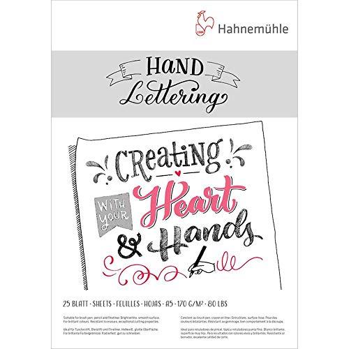 Papel para Caligrafia Hahnemühle Hand Lettering A5 170 g/m² 25 folhas