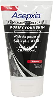 New Asepxia Charcoal Scrub, Exfoliating Acne Scrub, Oil Free 4.5 Oz