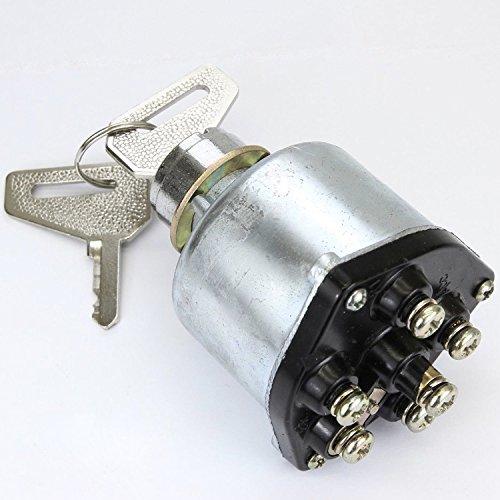 phil trade® Traktor Minibagger Bagger Zündschloss 2 Schlüssel 6 Kontakte