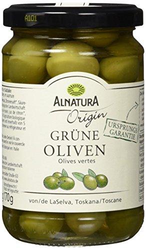 Alnatura Bio Origin Oliven, grün, 6er Pack (6 x 310 g)