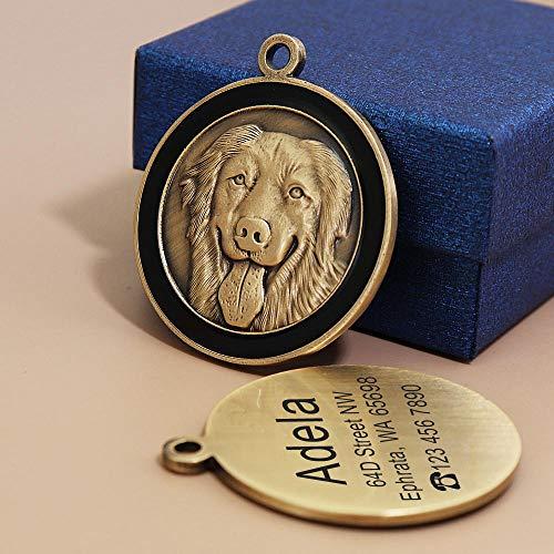 Etichetta identificativa personalizzata per cani Incisione personalizzata di targhette per cani Targhetta per cani Accessori per collari per cani Cion