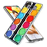S8 Plus Case Cute,S8 Plus Case for Girls,ChiChiC [ Cute Series] Full Protective Slim Flexible Soft TPU Rubber Cases Cover with Art Design for Samsung Galaxy S8 Plus,funny colorful watercolor paint box