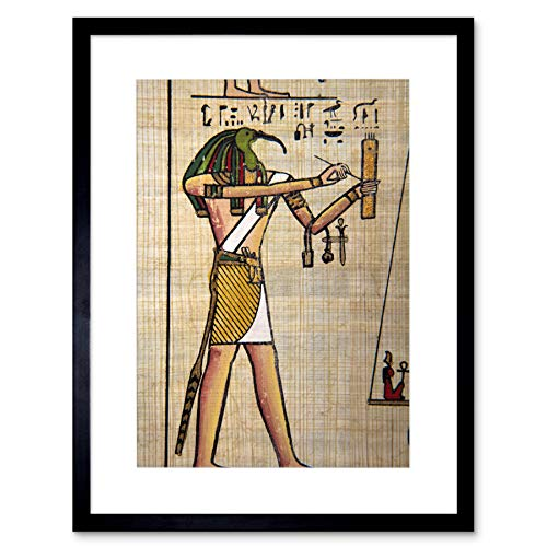 The Art Stop Painting Writing HEIROGLYPH EGYPTAIN GOD THOTH IBIS Head Framed Print F12X5084