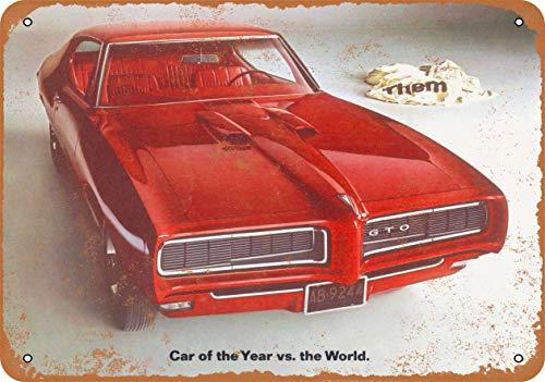 onepicebest 7″ x 10″ clásico Aluminio Retro Metal Sign – 1968 Pontiac GTO – Home House café Cerveza…