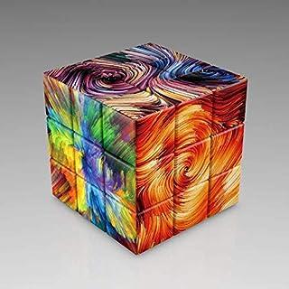 LRRB ホールUVなし立方マジココレクションのための 3x3x3のカスタムマジックキューブプロフェッショナル収集ネオパズル教育玩具を印刷します (Color : Fireworks)