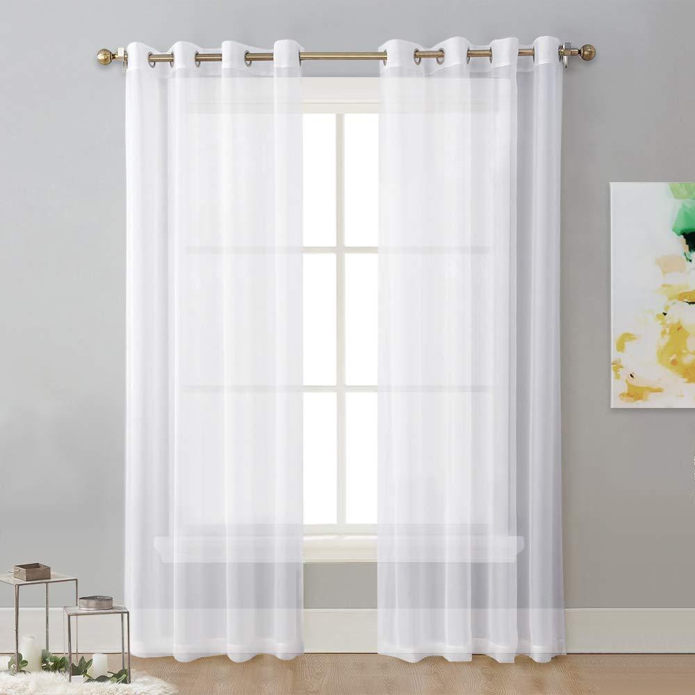 NICETOWN Sheer Curtain Panels Bedroom