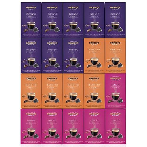 DANIELS BLEND - 200 Cápsulas de Café Compatibles con Máquinas Nespresso - MIX INTENSO