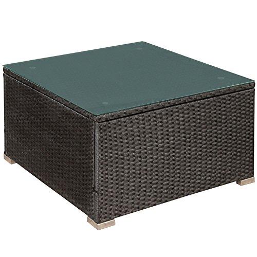 ArtLife Polyrattan Lounge Nassau schwarz | Gartenmöbel-Set mit Ecksofa & Tisch | dunkelgraue Bezüge | Sitzgruppe für Terrasse & Wintergarten - 5
