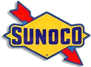 American Vinyl Vintage SUNOCO Logo Shaped Gas Sticker (Gasoline Old Rat Rod)