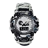 Men's Watches,Lifeline Thermometer Watch Compass Sport Multimeter, Camouflage Black