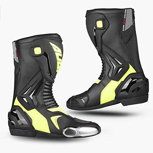 YZT QUEEN Motorlaarzen, mannen rijden gepantserd off-road motorfiets leren laarzen crash bescherming metalen teen reizen outdoor sport laarzen