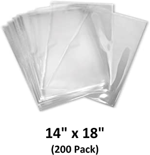 14x18 inch Odorless, Clear, 100 Guage, PVC Heat Shrink Wrap Bags for Gifts, Packagaing, Homemade DIY Projects, Bath Bombs, Soaps, and Other Merchandise (200 Pack) | MagicWater Supply