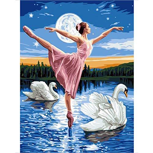 zxx5d 5D Diamond Painting afbeeldingen volledig groot strass borduurwerk boren volledige balletdanser zand dans muurkunst mozaïek geschenk decoratie 70x90cm