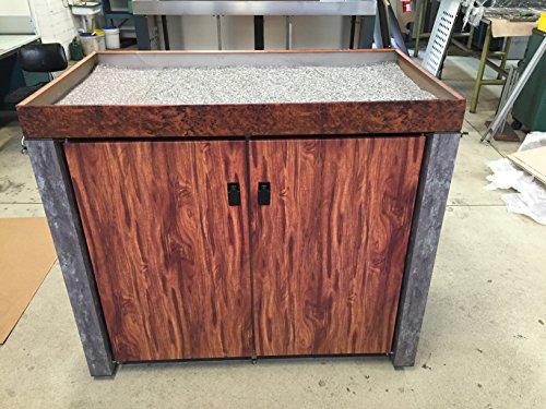 Mülltonnenbox für 2 Tonnen aus Aluminium/Edelstahl (Doppelbox) in Granit/Holz/Beton/Marmor-Optik(mit aufwendiger UV-beständiger Pulverbeschichtung - keine Folie!)