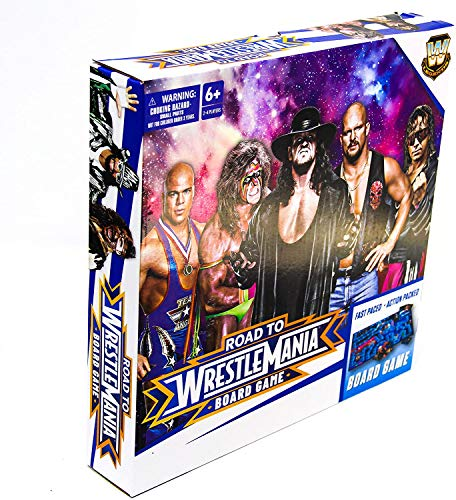 WWE Road to Wrestlemania Board Game, Action Packed WWE Games with WWE Elite Legends and Action Cards