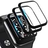 [3 Pack] Screen Protector for Apple Watch Series 6/5/4/SE 44mm 2020 Bubble-Free, 3D Full Coverage Anti-Scratch Shatter-Proof HD Clear Film Screen Protector for Apple iWatch 44mm Series 6/5/4/SE