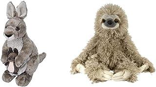 """Wild Republic Cuddlekins 12"""" Kangaroo Bundle Cuddlekin Three Toed Sloth 12"""" Plush"""
