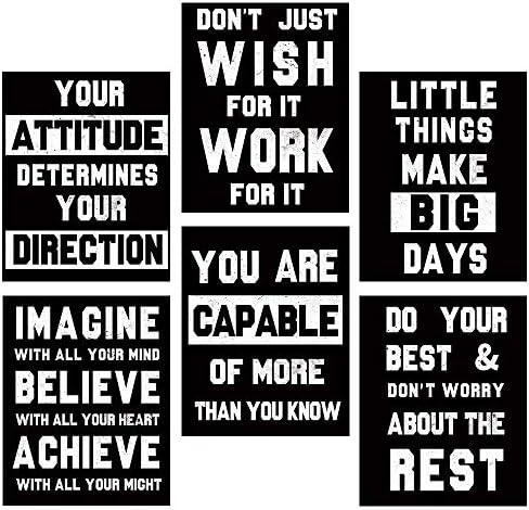 HOMANGA Motivational Wall Art Posters Positive Office Decor Art Prints Set of 6 Inspirational product image