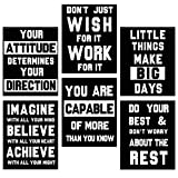 HOMANGA Motivational Wall Art Posters, Positive Office Decor Art Prints, Set of 6, Inspirational Quote Wall Decor for Bedroom Teen Boy Office Living Room, Canvas Posters 8x10 Inch Unframed