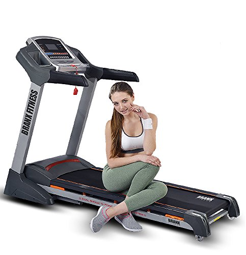 Branx Fitness Foldable 'Elite Runner Pro' Soft Drop System Treadmill - 23km/h – 6.5hp - 0-22 Level Auto incline - Body Fat Readout - Free Twister Included