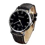 Moda lusso orologio da polso uomo grande quadrante rotondo analogico al quarzo orologi da polso in pelle casual Business digitale orologi nero