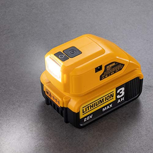 Battery Adapter for Dewalt 14 4V 18V 20V Lithium Ion Battery DC Port LED Work Light Dual USB product image