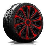 16 Zoll RKK06 Multi-Color Line (Schwarz-Rot) Radkappen/Radzierblenden 4 Stück