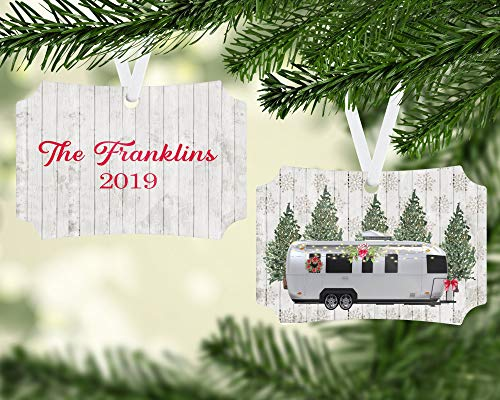 Toll2452 Personalized Airstream Camper Ornament 5th wheel camper campervintage campercamper ornamentcamping ornamentcamping gift