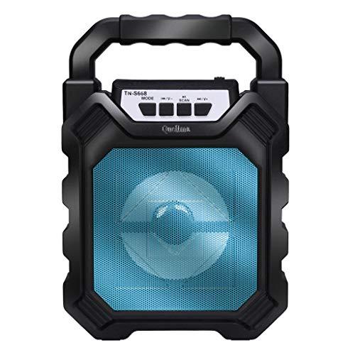 Altavoz Bluetooth,CHshe??,Altavoz multimedia inalámbrico ,LED portátil de 50W BT4.2 + DER completamente alimentado,Mini cámara H9 HD, tamaño pequeño, fácil de ocultar (Azul)