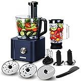 TopStrong Procesador de Alimentos,Compacto Multifunción Robot de Cocina 1100W,Procesador de alimentos multifuncional, con 3 discos de corte, 3 Velocidades y Función de Pulso, 3,2L