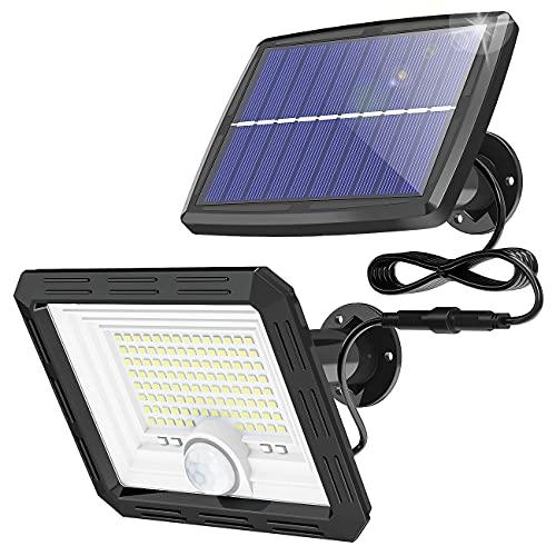108 LED Solarlampen für Außen, kolpop Outdoor Solarleuchten mit Bewegungsmelder, Aussenleuchte Solarstrahler IP65 Wasserdichte Solar Wandleuchte Solarlampe für Garden Balkon mit Batterieanzeigen
