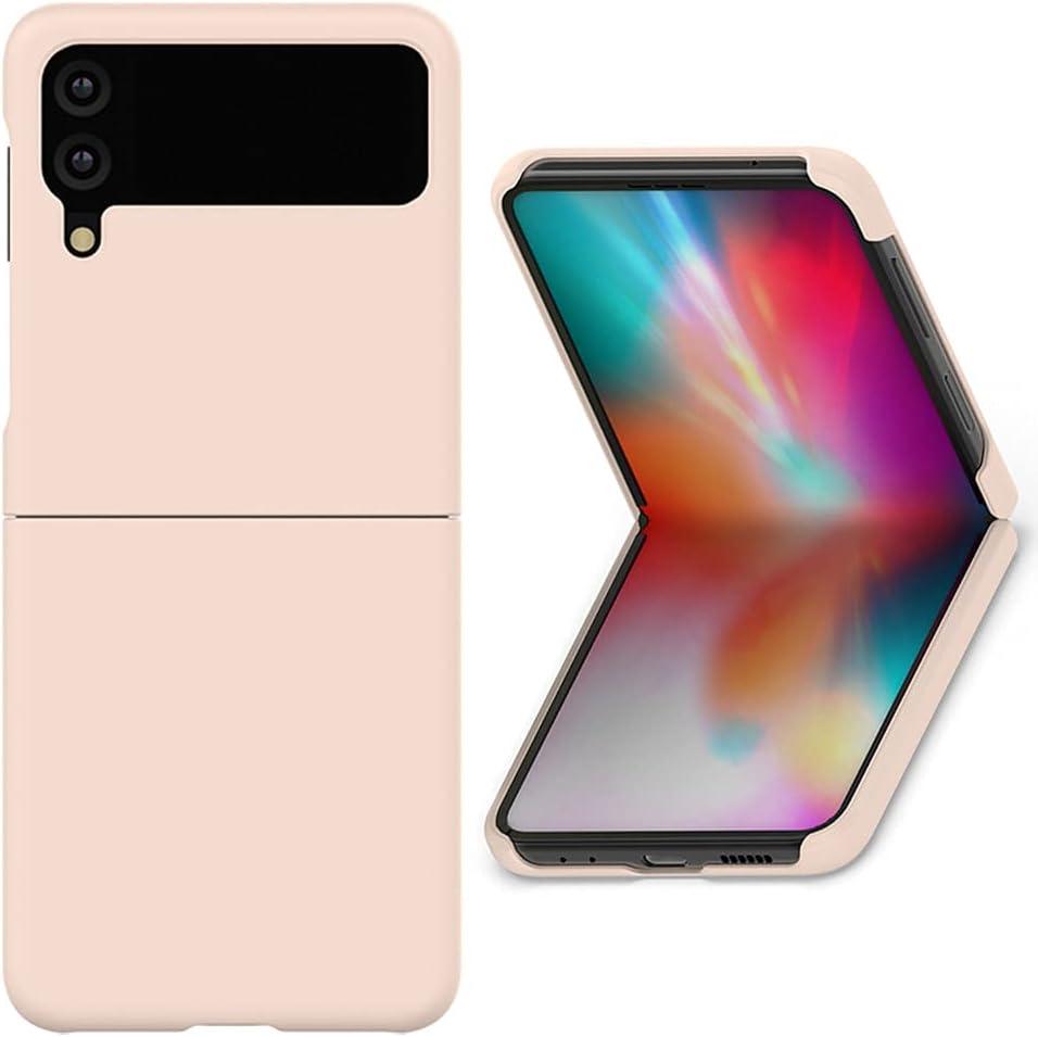 Alpha Pastel Slim Hard Designed for Galaxy Z Flip 3 5G Case (2021), Wireless Charging Support After Wearing (Beige)