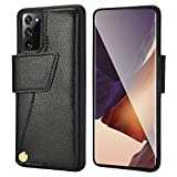 Samsung Galaxy Note20 Ultra Wallet Case, ZVEdeng Galaxy Note20 Ultra Card Holder Case Rotational Magnetic Flip Case Bumper Phone Case for Samsung Galaxy Note20 Ultra 6.9inch-Black