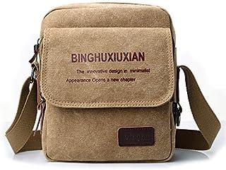 Fashion Shoulder Bag For Men Stylish Brown Canvas Crossbody Bag Korean Style HandBag For Male 19cm X 24cm