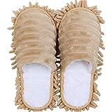 Centeraly 1 par de zapatillas de mopa desmontables para fregona de polvo, a prueba de arañazos, mopa de limpieza para mujeres y hombres, zapatillas de limpieza cálida