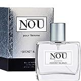 Perfume afrutado - Perfume fresco con notas afrutadas y florales - Perfume natural para mujeres con infusión de aceites esenciales - Perfume NOU Secret Blanc para mujeres - 50 ml EDP