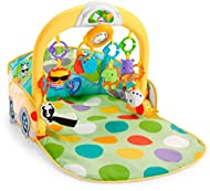3 ways to play that grow with baby! 1. Lay & Play; 2. Tummy Time; 3. Sit & Drive 30 minutes of music & lights 8 movable activity toys Large, machine-washable play mat Helps get motor skills rolling along nicely