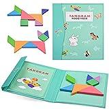 YoYo Tangram - Puzzle de juguete educativo montessori, bloques de madera, montaje de formas geométricas, niños a partir de 3 años, desarrollo de la creatividad, aprendizaje de formas y colores