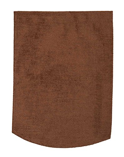 linen702 CHENILLE CHAIR ARM COVERS OR CHAIR BACKS, CHOICE OF 4 PLAIN COLOURS. CREAM, GOLD, BURGUNDY OR BROWN (Chair Backs Chocolate Brown (50843))