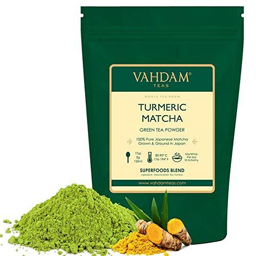 THE SUPER FOOD HEALTHIEST - Auténtico polvo de té verde Matcha que se obtiene directamente de la región de Uji en Japón. El té verde Matcha es rico en antioxidantes, ayuda a estimular el metabolismo, fuente de energía natural, rico en catequinas, vit...