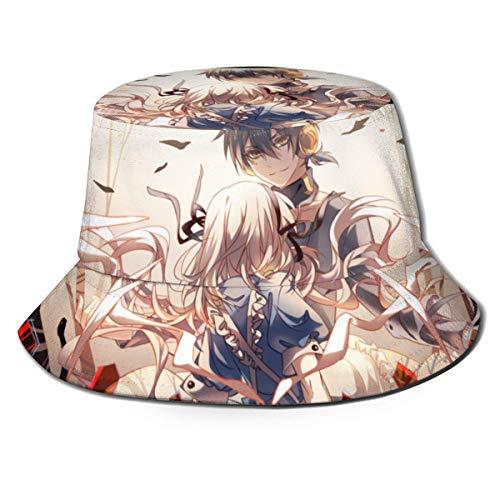 Anime Kagerou Project Fisherman Hat Unisex Impreso de doble cara Folle Buet Sombrero, sin deformación, disfruta del aire libre en comodidad y estilo Bla