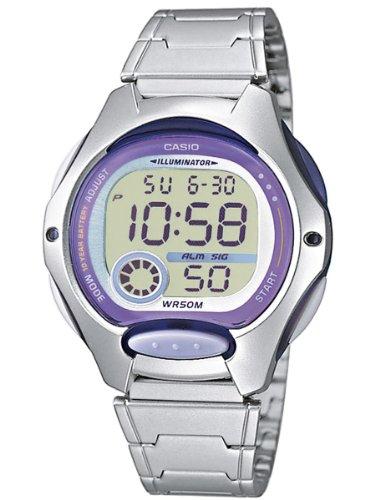 Casio Reloj Digital para Mujer de Cuarzo con Correa en Acero Inoxidable LW-200D-6AVEF